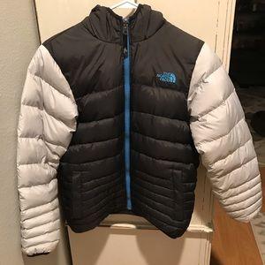 The North Face 550 boys reversible down coat EUC